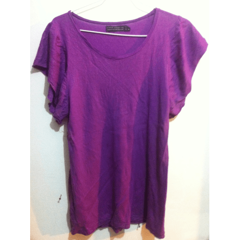 Top, tee-shirt ZARA Violet, mauve, lavande