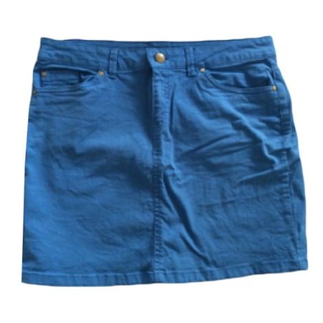Jupe en jean AUTRE TON Bleu, bleu marine, bleu turquoise