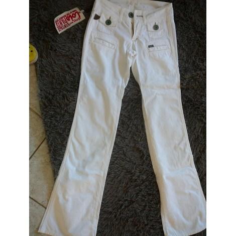 Jeans évasé, boot-cut LOIS Blanc, blanc cassé, écru