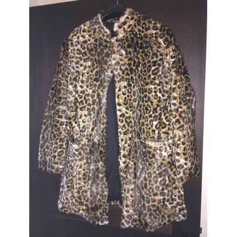 Manteau en fourrure MAJE Imprimés animaliers
