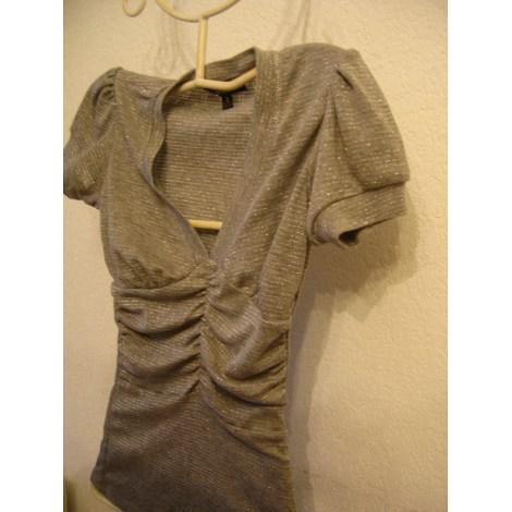 Top, tee-shirt JENNYFER Argenté, acier