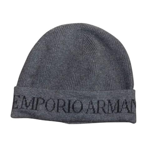 Bonnet EMPORIO ARMANI Gris, anthracite