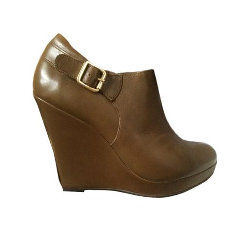 Bottines & low boots à compensés MINELLI Kaki