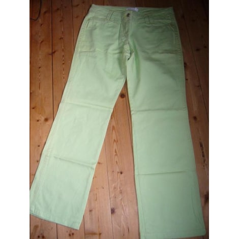 Jeans droit MANGO Vert