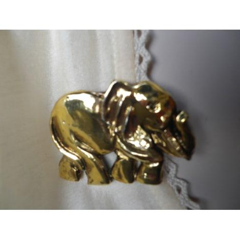Broche JACKY DE G. Doré, bronze, cuivre