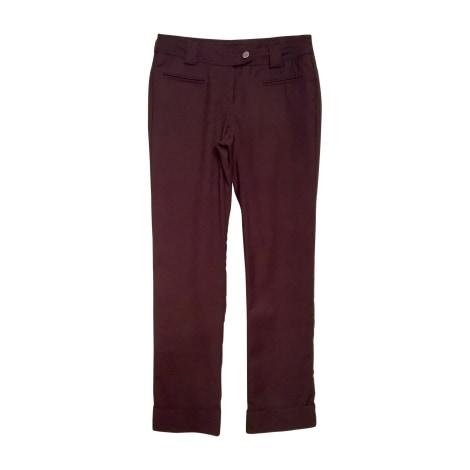 Pantalon droit PRADA Marron