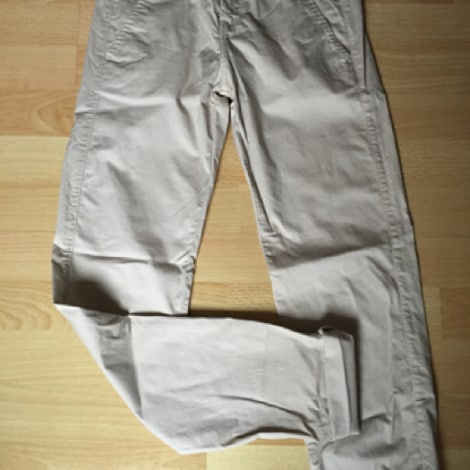 Pantalon slim, cigarette BERSHKA Beige, camel