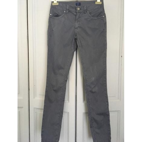 Pantalon droit TRUSSARDI JEANS gris bleu
