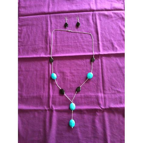 Parure bijoux MARQUE INCONNUE Bleu, bleu marine, bleu turquoise