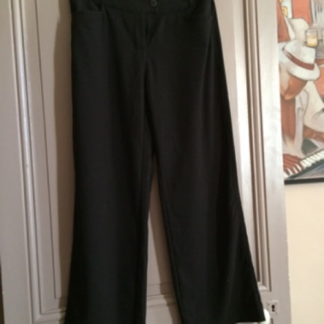Pantalon droit LADY CAPTAIN Noir
