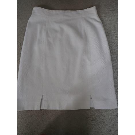 Jupe courte ALAIN MANOUKIAN Blanc, blanc cassé, écru