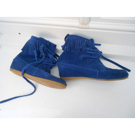 Bottines & low boots à compensés MAJE Bleu, bleu marine, bleu turquoise