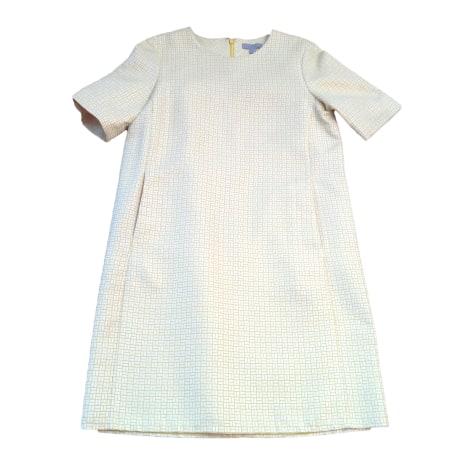 Robe mi-longue COS Blanche et jaune