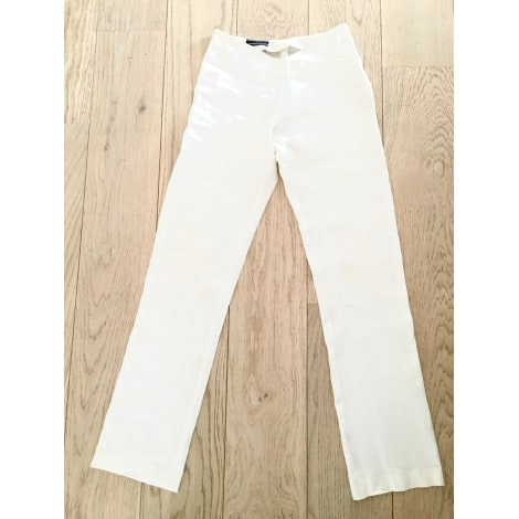 Pantalon droit JOSEPH Blanc, blanc cassé, écru