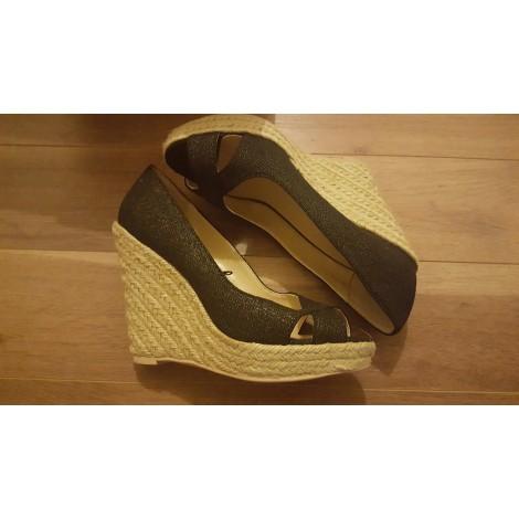 Sandales compensées MANGO Noir