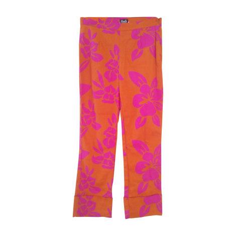 Pantalon droit DOLCE & GABBANA Orange
