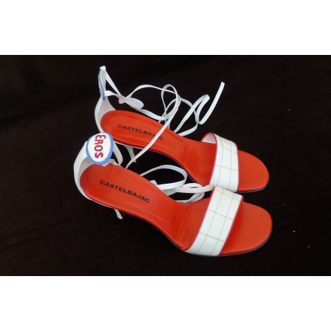 Sandales à talons CASTELBAJAC Blanc, blanc cassé, écru