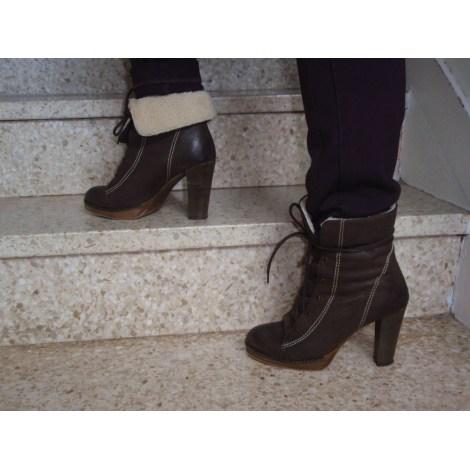 Bottines & low boots à talons REQINS Marron