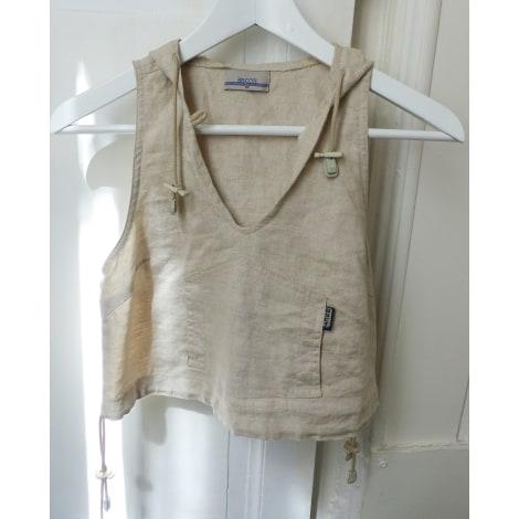Top, tee-shirt BISCOTE Blanc, blanc cassé, écru