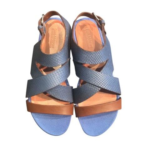 Sandales plates  PHILOSOPHY DI ALBERTA FERRETTI Bleu, bleu marine, bleu turquoise