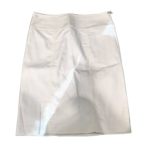 Jupe mi-longue BURBERRY Blanc, blanc cassé, écru