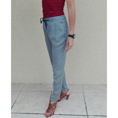 Pantalon carotte CAROLL Bleu, bleu marine, bleu turquoise