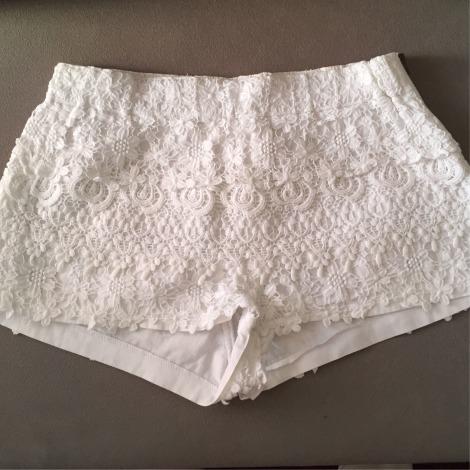 Short ZARA Blanc, blanc cassé, écru