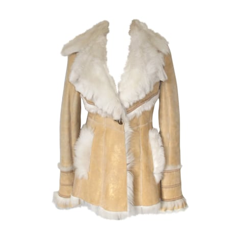 Manteau en fourrure ROBERTO CAVALLI Beige, camel