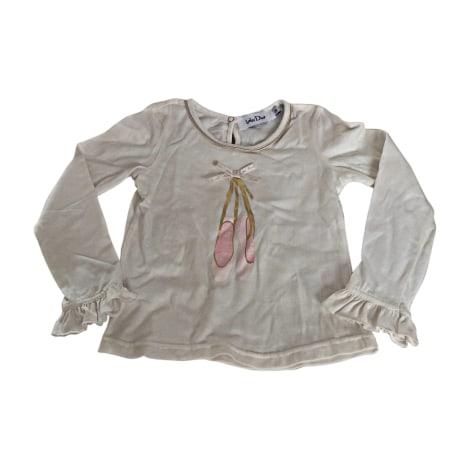 Top, Tee-shirt BABY DIOR Blanc, blanc cassé, écru