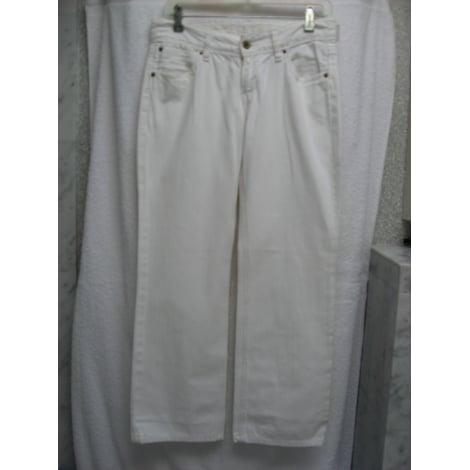 Jeans droit LEVI'S Blanc, blanc cassé, écru