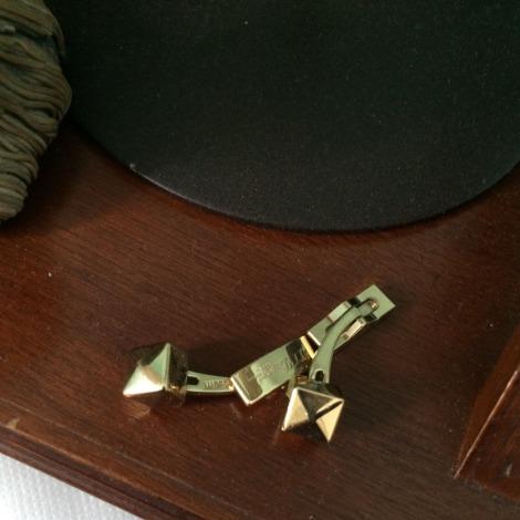 Cufflinks S.T DUPONT Golden, bronze, copper