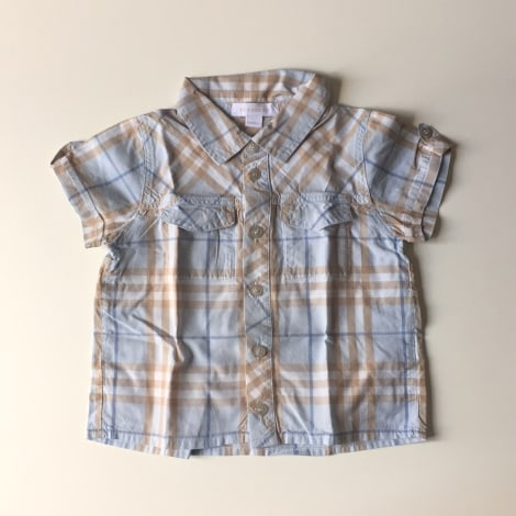 Blouse, Short-sleeved Shirt BURBERRY Blue, navy, turquoise