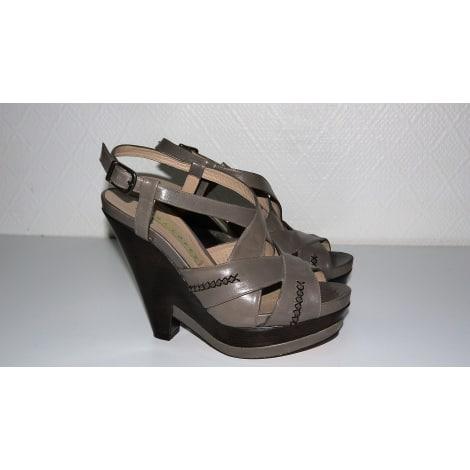 Sandales compensées PURA LOPEZ Kaki