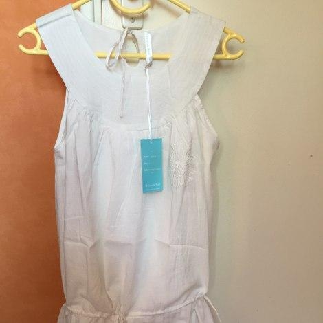 Robe tunique VERSION SUD Blanc, blanc cassé, écru