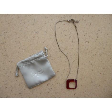 Pendentif, collier pendentif SKALLI Rouge, bordeaux