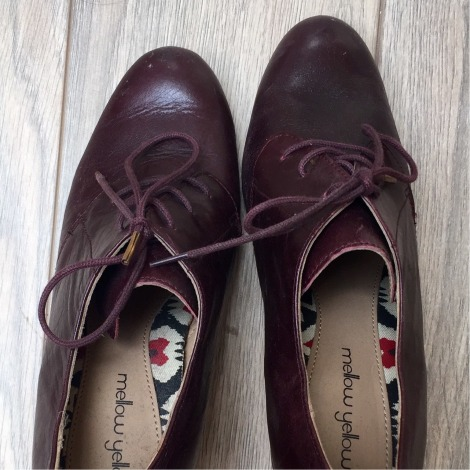 Bottines & low boots à talons MELLOW YELLOW Rouge, bordeaux
