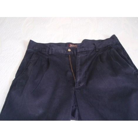 Pantalon droit MARLBORO CLASSICS Bleu, bleu marine, bleu turquoise