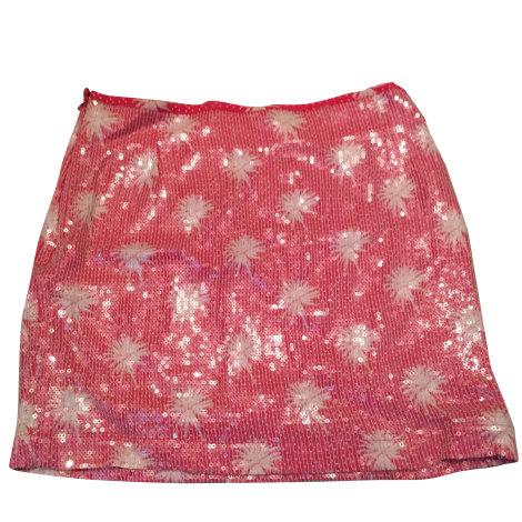 Jupe courte CLAUDIE PIERLOT Rose, fuschia, vieux rose