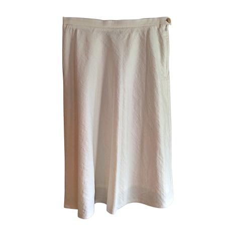 Jupe mi-longue KENZO Blanc, blanc cassé, écru