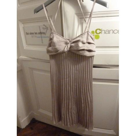 Robe courte CHATTAWAK Blanc, blanc cassé, écru