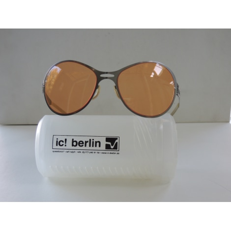 Lunettes de soleil IC BERLIN Argenté, acier