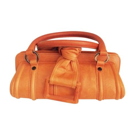 Sac à main en cuir GIVENCHY Orange