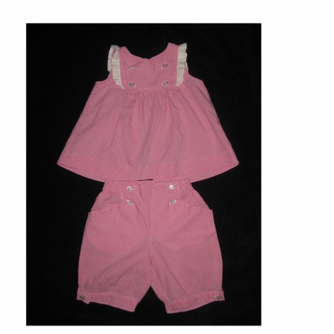 Ensemble & Combinaison short JACADI Rose, fuschia, vieux rose