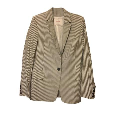 Blazer, veste tailleur MAJE Blanc, blanc cassé, écru
