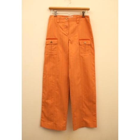 Pantalon droit COMME UN POISSON DANS L'EAU Orange
