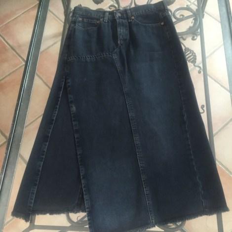 Jupe en jean LEVI'S Noir