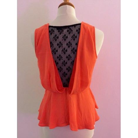 Top, tee-shirt COLOR BLOCK Orange