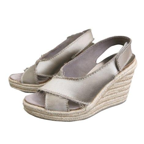 Sandales compensées PEDRO GARCIA Kaki