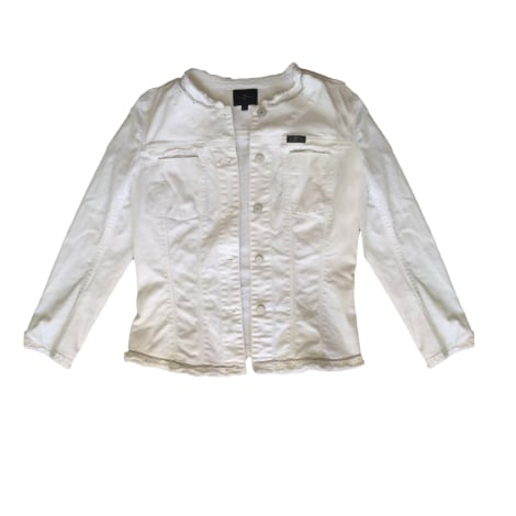 Veste en jean 7 FOR ALL MANKIND Blanc, blanc cassé, écru