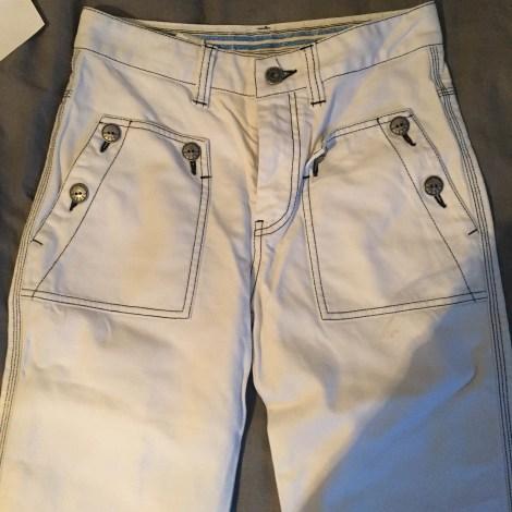 Jeans très evasé, patte d'éléphant DIESEL Blanc, blanc cassé, écru